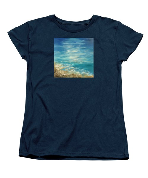 Women's T-Shirt (Standard Cut) featuring the painting Distant Deluge by Tatiana Iliina