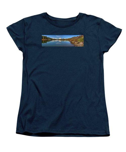 Distant Mt. Moran Reflections Women's T-Shirt (Standard Cut) by Adam Jewell