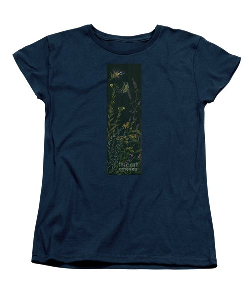 Women's T-Shirt (Standard Cut) featuring the drawing Ditchweed Fairy Tiger Swallowtail by Dawn Fairies