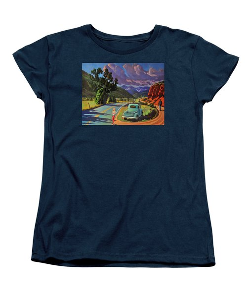 Women's T-Shirt (Standard Cut) featuring the painting Divergent Paths by Art West