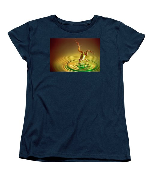 Women's T-Shirt (Standard Cut) featuring the photograph Diving by William Lee