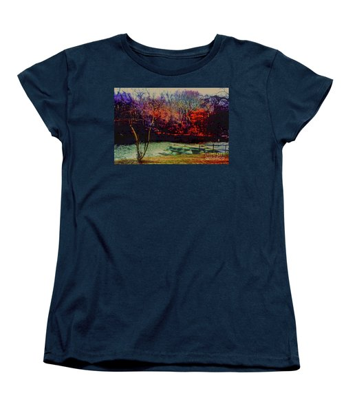 Women's T-Shirt (Standard Cut) featuring the photograph Dock At Central Park by Sandy Moulder