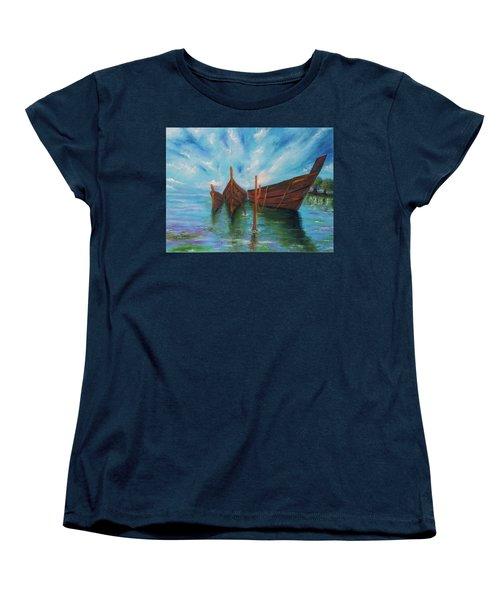 Docking Women's T-Shirt (Standard Cut) by Itzhak Richter
