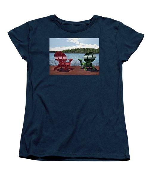Dockside Women's T-Shirt (Standard Cut) by Kenneth M  Kirsch