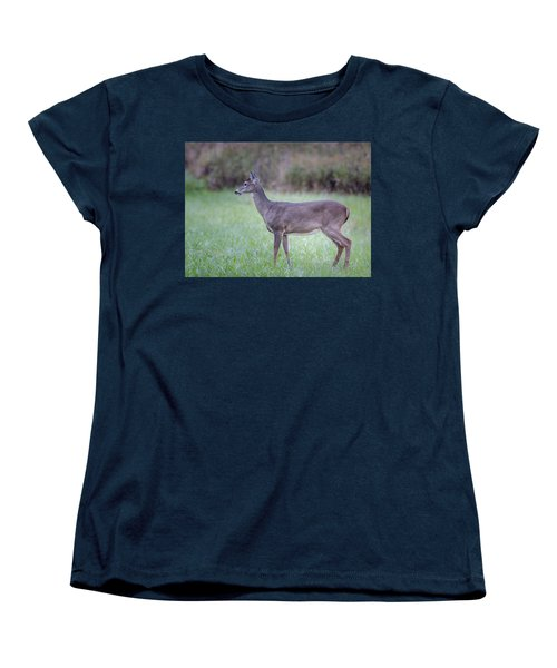Women's T-Shirt (Standard Cut) featuring the photograph Doe In Cades Cove by Tyson Smith