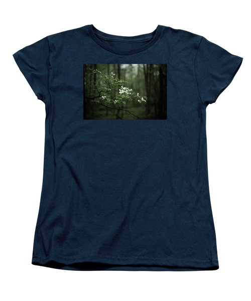 Women's T-Shirt (Standard Cut) featuring the photograph Dogwood Branch by Shane Holsclaw