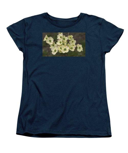 Dogwood Dance In White Women's T-Shirt (Standard Cut) by Don Spenner