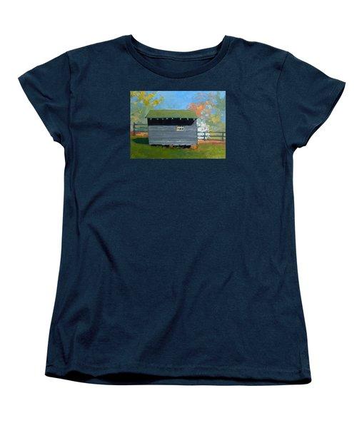 Dogwood Farm Shed Women's T-Shirt (Standard Cut) by Catherine Twomey