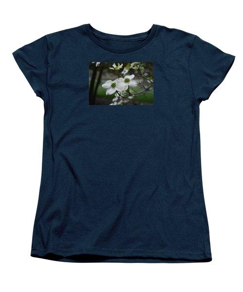 Women's T-Shirt (Standard Cut) featuring the photograph Dogwood by Linda Geiger