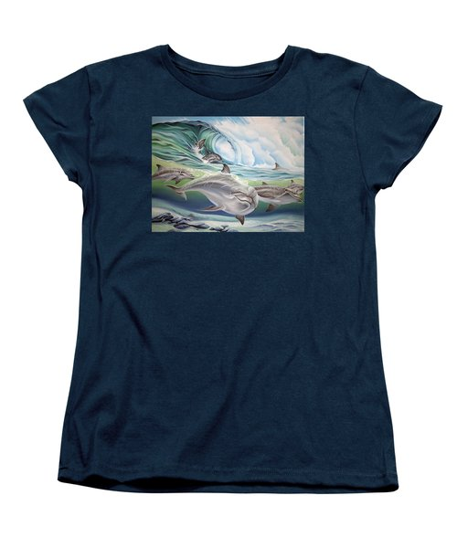 Dolphin 2 Women's T-Shirt (Standard Cut) by William Love