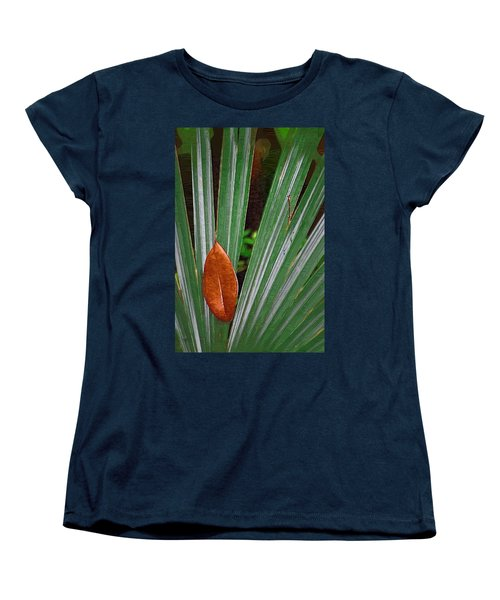 Women's T-Shirt (Standard Cut) featuring the photograph Don't Leaf by Donna Bentley