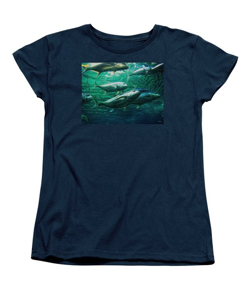 Women's T-Shirt (Standard Cut) featuring the photograph Don't Mess With Bluefin Jack by Glenn McCarthy