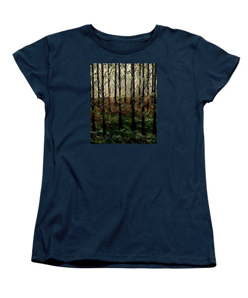 Don't Touch Down Women's T-Shirt (Standard Cut) by Lisa Aerts