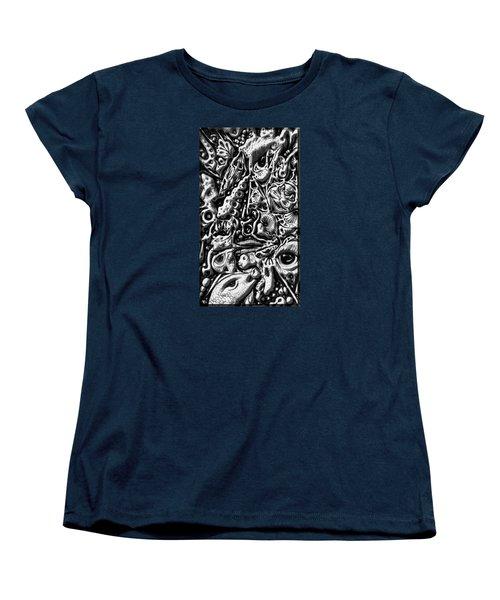Doodle Emboss Women's T-Shirt (Standard Cut) by Darren Cannell