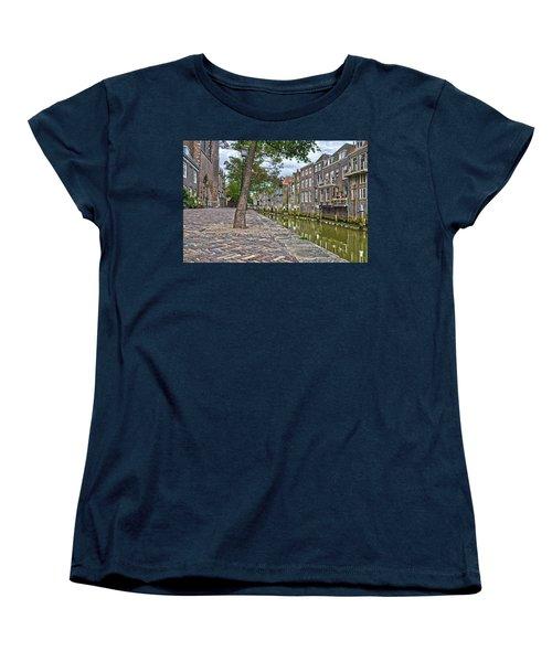 Dordrecht Behind The Church Women's T-Shirt (Standard Cut) by Frans Blok