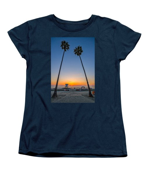 Dos Palms Women's T-Shirt (Standard Cut) by Peter Tellone