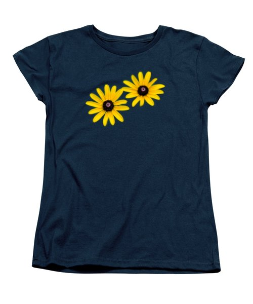 Double Daisies Women's T-Shirt (Standard Cut) by Christina Rollo