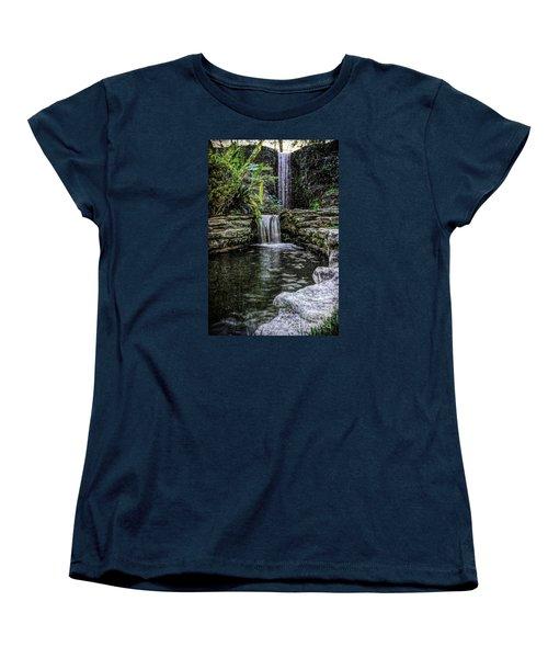 Women's T-Shirt (Standard Cut) featuring the photograph Double Drop by Ken Frischkorn