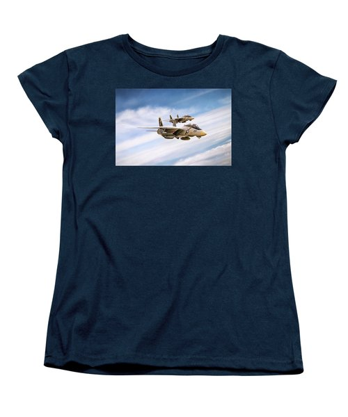 Women's T-Shirt (Standard Cut) featuring the digital art Double Nuts by Peter Chilelli