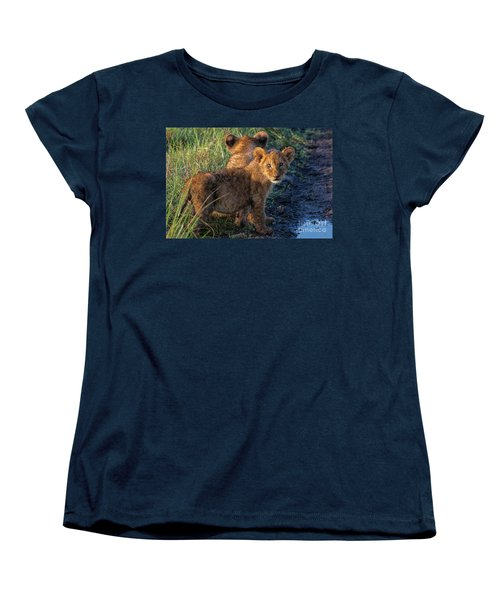 Women's T-Shirt (Standard Cut) featuring the photograph Double Trouble by Karen Lewis