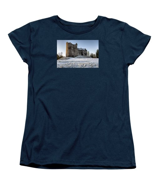 Doune Castle In Central Scotland Women's T-Shirt (Standard Cut) by Jeremy Lavender Photography