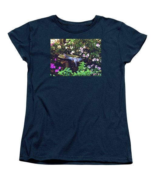 Dove In Flight Women's T-Shirt (Standard Cut) by Debra Crank