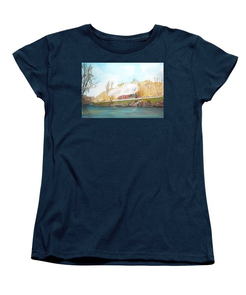 Down By The River Side Women's T-Shirt (Standard Cut) by Carole Robins