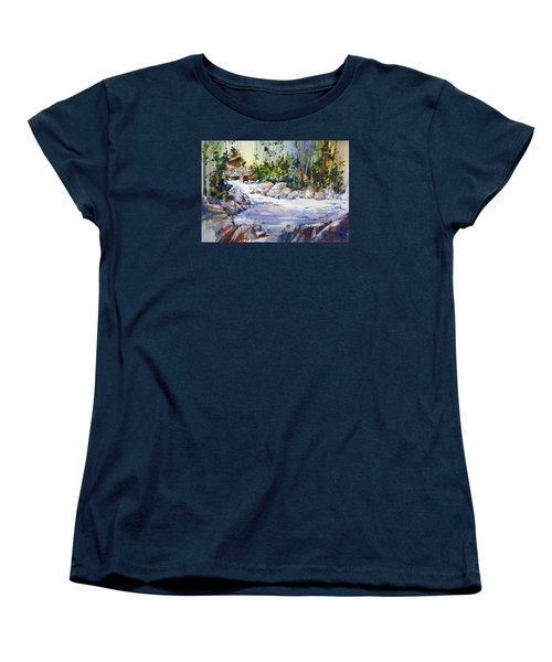 Down Stream On Hoppers Creek Women's T-Shirt (Standard Cut) by P Anthony Visco