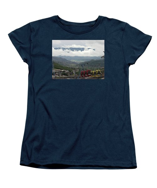 Women's T-Shirt (Standard Cut) featuring the photograph Down The Valley At Snowmass by Jerry Battle