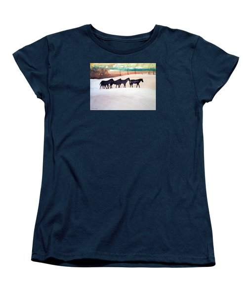 Downs Stables Women's T-Shirt (Standard Cut) by Ed Heaton