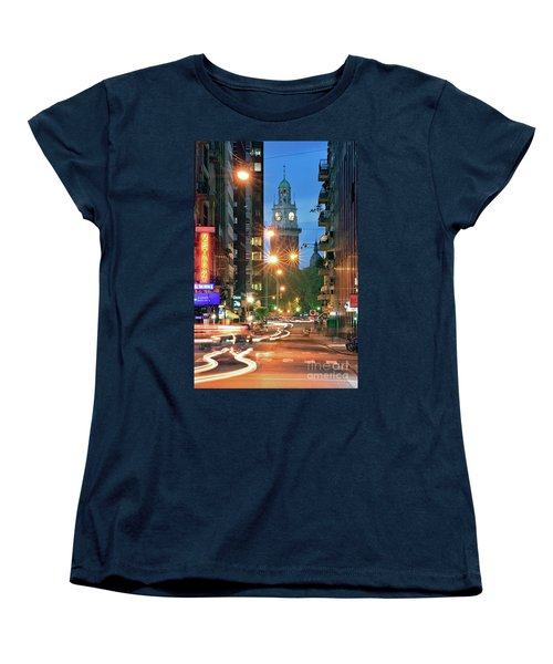 Women's T-Shirt (Standard Cut) featuring the photograph Downtown by Bernardo Galmarini