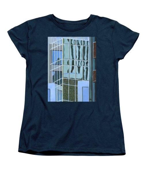 Downtown Reflections Women's T-Shirt (Standard Cut) by Alika Kumar