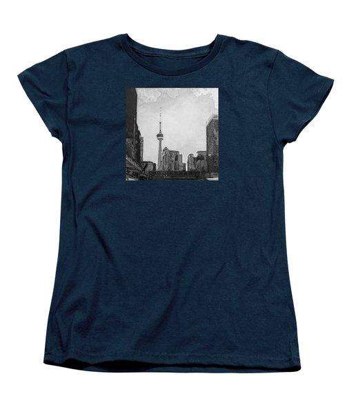 Downtown Toronto In Bw Women's T-Shirt (Standard Cut)