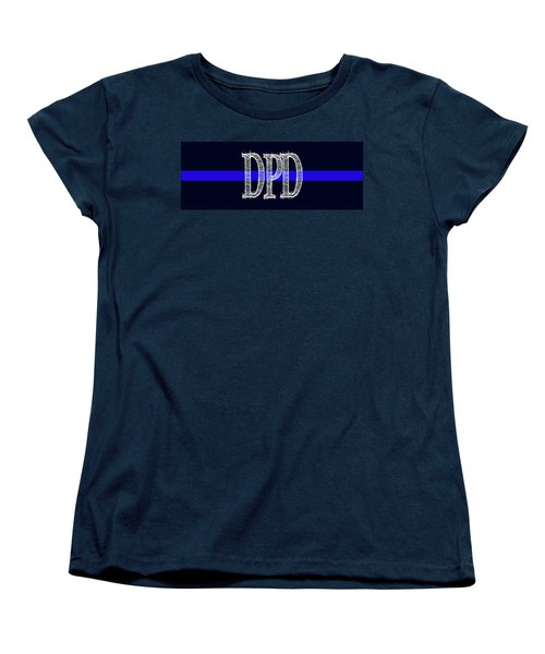 Dpd Blue Line Mug Women's T-Shirt (Standard Cut) by Robert J Sadler