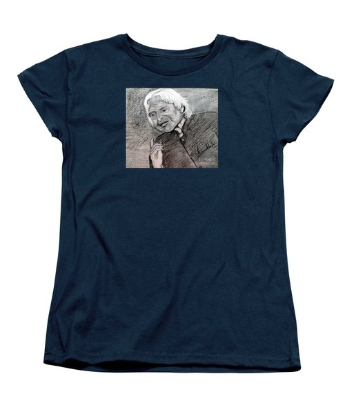 Women's T-Shirt (Standard Cut) featuring the painting Dr. Abdul Khalam by Brindha Naveen