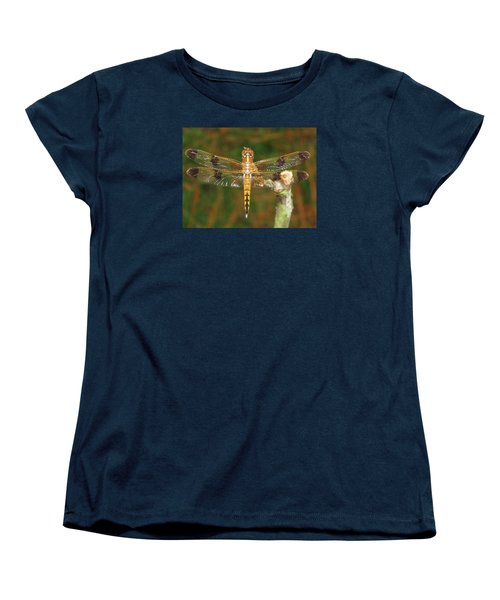 Women's T-Shirt (Standard Cut) featuring the photograph Painted Skimmer Dragonfly by Phyllis Beiser