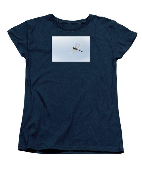 Dragonfly In Flight Women's T-Shirt (Standard Cut) by Teresa Blanton