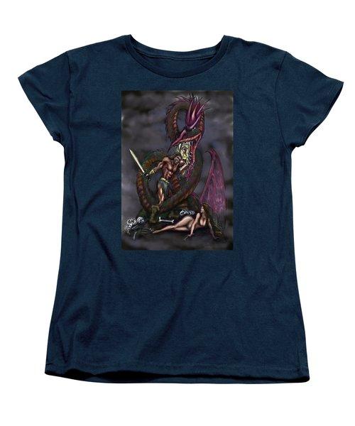 Dragonslayer Women's T-Shirt (Standard Cut) by Kevin Middleton