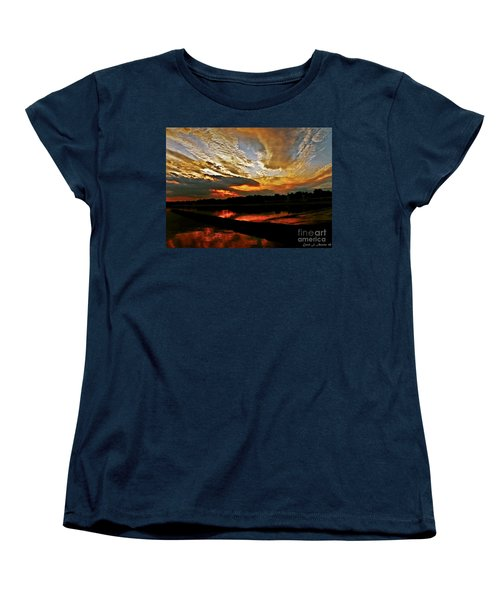 Drama In The Sky At The Sunset Hour Women's T-Shirt (Standard Cut) by Carol F Austin