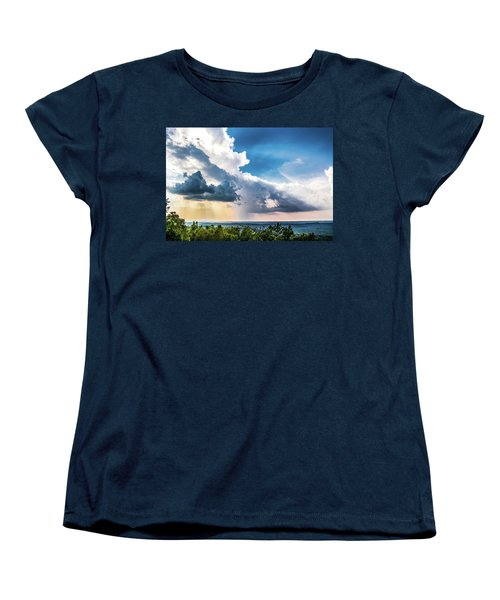 Women's T-Shirt (Standard Cut) featuring the photograph Dramatic Sunrays Over The Valley by Shelby Young