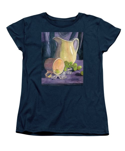 Drapes And Grapes Women's T-Shirt (Standard Cut) by Lynne Reichhart