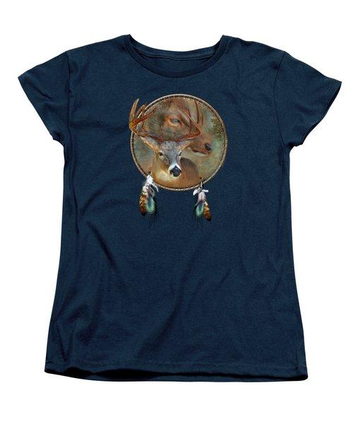 Dream Catcher - Spirit Of The Deer Women's T-Shirt (Standard Cut) by Carol Cavalaris
