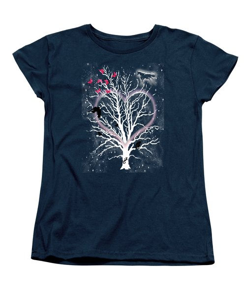 Dreamcatcher Tree Women's T-Shirt (Standard Cut) by Methune Hively
