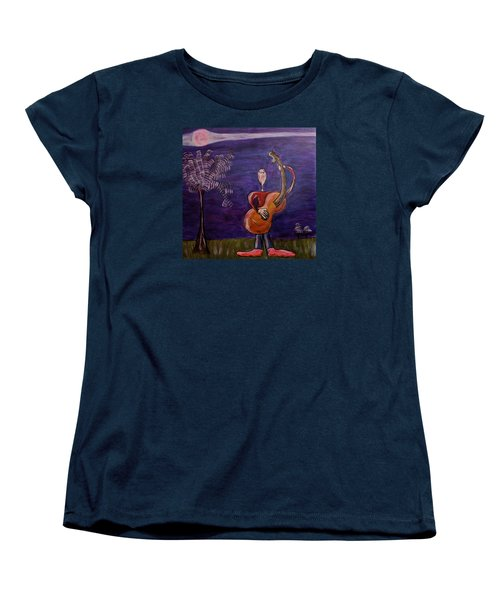 Women's T-Shirt (Standard Cut) featuring the painting Dreamers 13-001 by Mario Perron