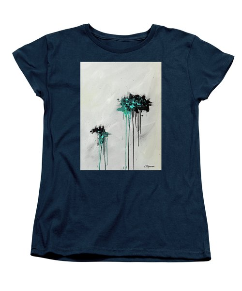 Women's T-Shirt (Standard Cut) featuring the painting Dreamers by Carmen Guedez