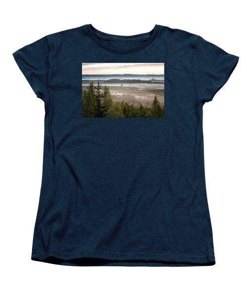 Dreamlike Landscape Women's T-Shirt (Standard Cut) by Teemu Tretjakov
