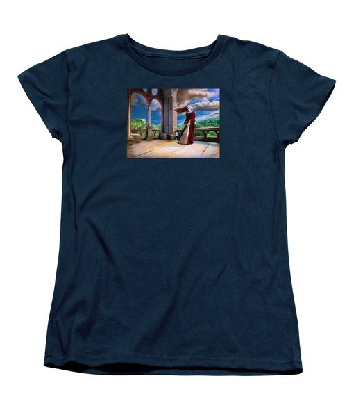 Women's T-Shirt (Standard Cut) featuring the painting Dreams Of Heaven by Dave Luebbert