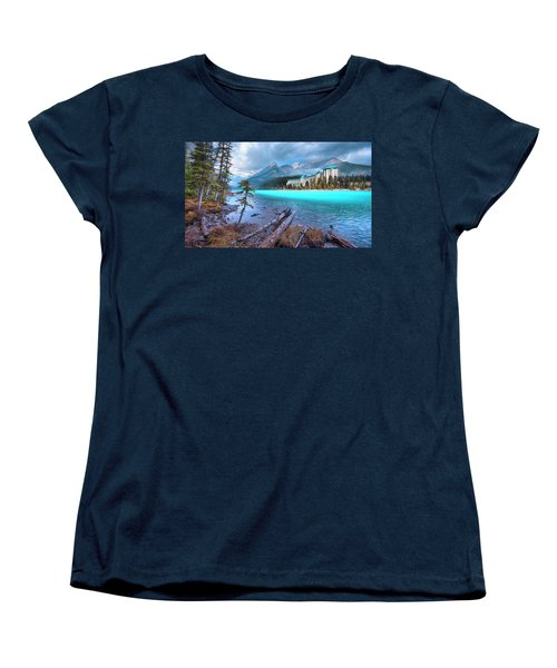 Women's T-Shirt (Standard Cut) featuring the photograph Dreamy Chateau Lake Louise by John Poon