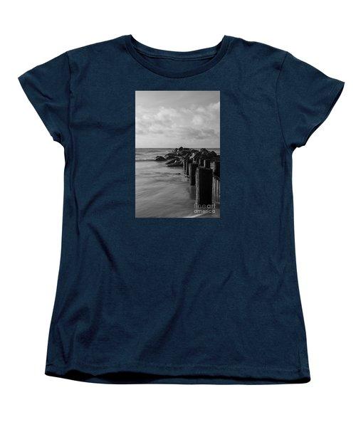 Dreamy Jettie Grayscale Women's T-Shirt (Standard Cut) by Jennifer White
