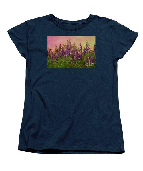 Dreamy Lupin Women's T-Shirt (Standard Cut) by Deborah Benoit